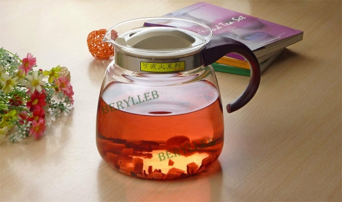 High Grade Clear Glass Kettle for Gas Stove 1800ml 60.5fl. oz * Free Shipping * Free Shipping
