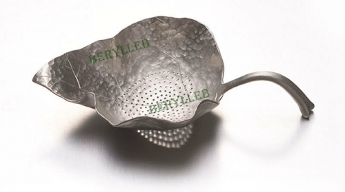 Handmade Leaf Shape Pure Tin Tea Strainer * Free Shipping