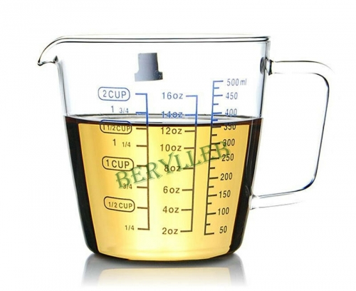 Three Scales Measuring Cup * YWY High Grade Clear Class Tea Pitcher * Free Shipping