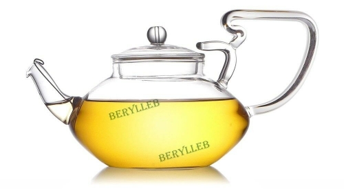YWY High Grade Clear Glass Teapot w/t Filter 500ml 16.8fl. oz * Free Shipping * Free Shipping