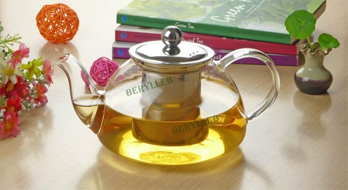 HL High Grade Glass Teapot w/t Stainless Stee Infuser 800ml 26.9fl. oz * Free Shipping